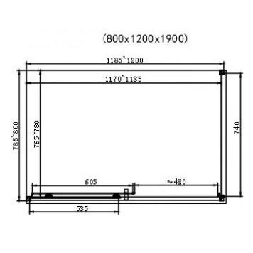 Душевая кабина Dusel EF185B/EF181 Black Matt 120х80х190 без поддона-2