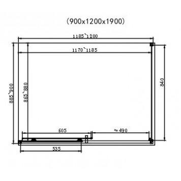 Душевая кабина Dusel EF185B/EF181 Black Matt 120х90х190 без поддона-2