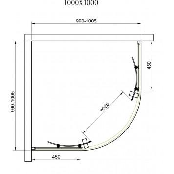 Душевая кабина Dusel А-511 100х100х190 стекло шиншилла без поддона-6