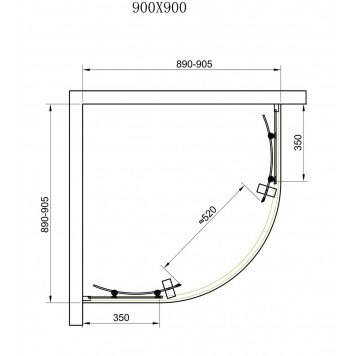 Душевая кабина Dusel А-511 90х90х190 стекло прозрачное без поддона-4