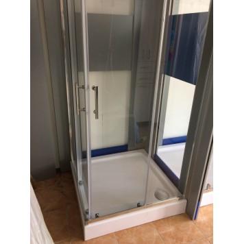 Душевая кабина Dusel А-513 100х100х190 стекло прозрачное без поддона-3
