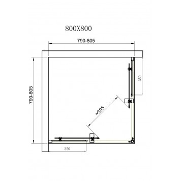 Душевая кабина Dusel А-513 80х80х190 стекло прозрачное без поддона-2