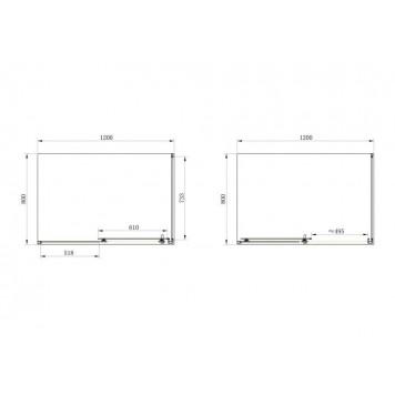 Душевая кабина Dusel А-515 120х80х190 стекло тонированное без поддона-2