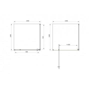 Душевая кабина Dusel А-516 100х100х190 стекло прозрачное без поддона-1