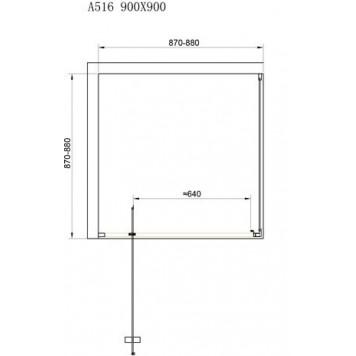 Душевая кабина Dusel А-516 90х90х190 стекло прозрачное без поддона-1