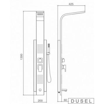 Гидромассажная панель Dusel DU2018-00-3