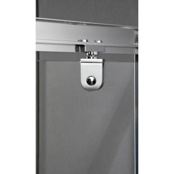 Душевая дверь в нишу Dusel FА-516, 90 см, стекло прозрачное-2