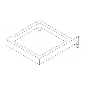 Акриловый поддон Dusel D102 90х90x13,5-2