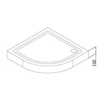 Акриловый поддон Dusel D202 90х90x13,5-2
