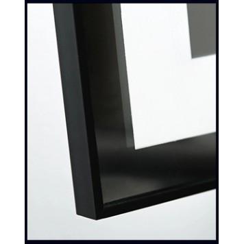 Зеркало DUSEL LED DE-M0061S1 Black 100х75 с часами-1
