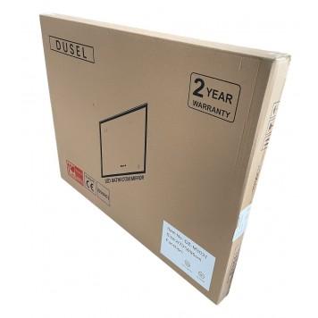 Зеркало DUSEL LED DE-M0061S1 Black 80х65 с часами-5
