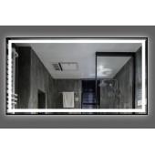Зеркало DUSEL LED DE-M0061S1 Black 80х65 с часами и Bluetooth