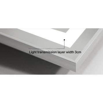 Зеркало DUSEL LED DE-M0061S1 Silver 100х75 с часами-1