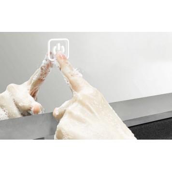 Зеркало DUSEL LED DE-M0061S1 Silver 100х75 с часами-2