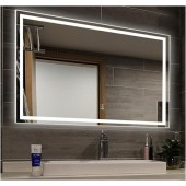 Зеркало DUSEL LED DE-M0061S1 Silver 100х75 с часами и Bluetooth
