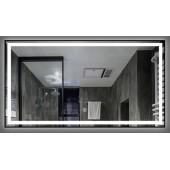 Зеркало DUSEL LED DE-M0061S1 Silver 120х75 с часами