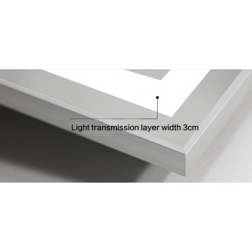Зеркало DUSEL LED DE-M0061S1 Silver 80х65 с часами и Bluetooth-3
