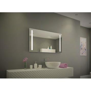 Зеркало DUSEL LED DE-M1041 100х75 с часами-1