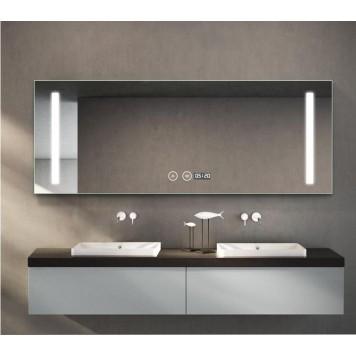 Зеркало DUSEL LED DE-M1041 100х75 с часами и Bluetooth