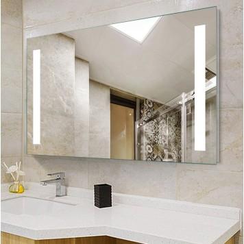 Зеркало DUSEL LED DE-M1041 80х65 с часами и Bluetooth-1