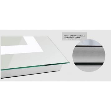 Зеркало DUSEL LED DE-M1091 100х75 с часами-6