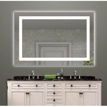 Зеркало DUSEL LED DE-M1091 100х75 с часами