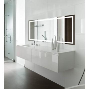 Зеркало DUSEL LED DE-M1091 120х75 с часами