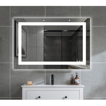 Зеркало DUSEL LED DE-M1091 80х65 с часами