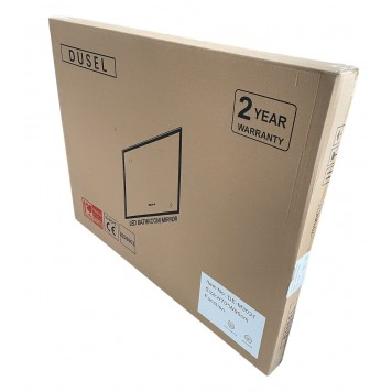 Зеркало DUSEL LED DE-M1091 80х65 с часами и Bluetooth-7