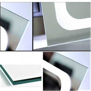 Зеркало DUSEL LED DE-M3001 100х75 с часами-7