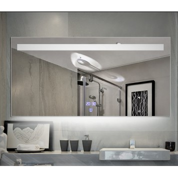 Зеркало DUSEL LED DE-M3021 100х75 с часами и Bluetooth-1