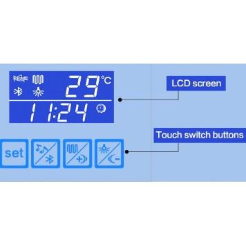 Зеркало DUSEL LED DE-M3021 100х75 с часами и Bluetooth-2