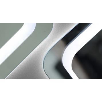 Зеркало DUSEL LED DE-M3031 100х75 с часами-2
