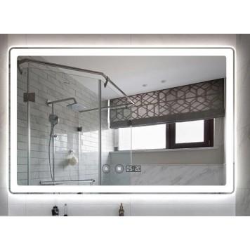 Зеркало DUSEL LED DE-M3051 80х65 с часами