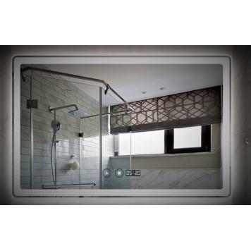 Зеркало DUSEL LED DE-M3051 80х65 с часами-2