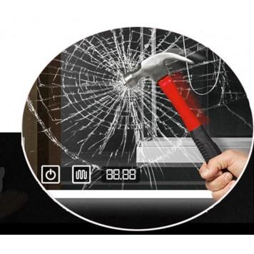 Зеркало DUSEL LED DE-M2071D Silver 80 см с часами (рама хром)-4