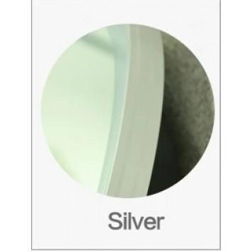 Зеркало DUSEL LED DE-M2071D Silver 80 см с часами (рама хром)-1