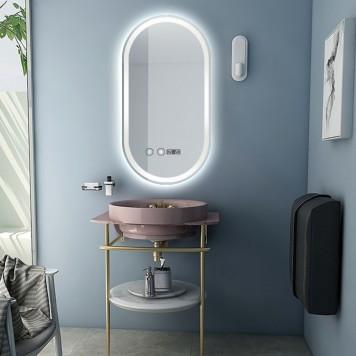 Зеркало DUSEL LED DE-M4031 120х60 с часами