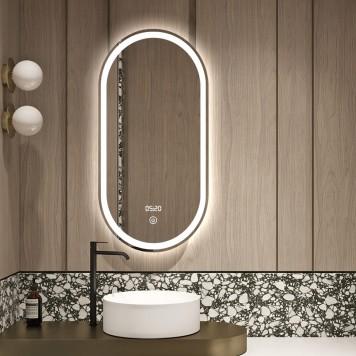 Зеркало DUSEL LED DE-M4031 120х60 с часами-2