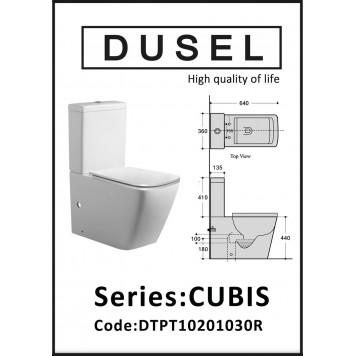 Унитаз-компакт с сиденьем Slim Soft-Close DUSEL CUBIS DTPT10201030R-2