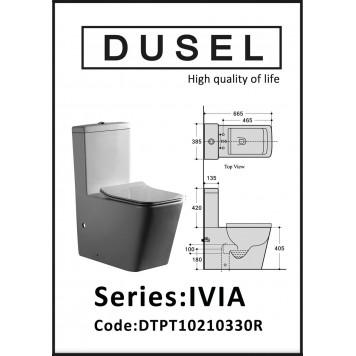 Унитаз-компакт с сиденьем Slim Soft-Close DUSEL IVIA DTPT10210330R-3