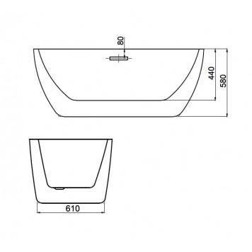 Ванна Dusel DU111 Sarno 1800x750 мм-1