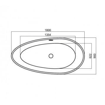 Ванна Dusel DU106 Pisa 1800x900 мм-3