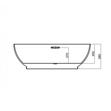 Ванна Dusel DU106 Pisa 1800x900 мм-4