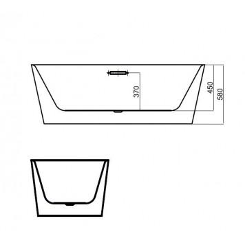 Ванна Dusel DU103 Asti 1700x800 мм-2