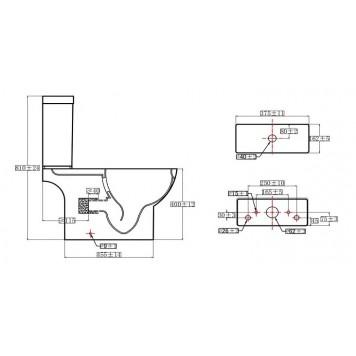 Унитаз-компакт с сиденьем Slim Soft-Close DUSEL SOUL DTPT10211930R-2