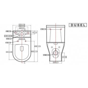 Унитаз-компакт с сиденьем Slim Soft-Close DUSEL SOUL DTPT10211930R-3