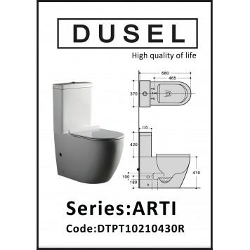 Унитаз-компакт с сиденьем Slim Soft-Close DUSEL ARTI DTPT10210430R-5