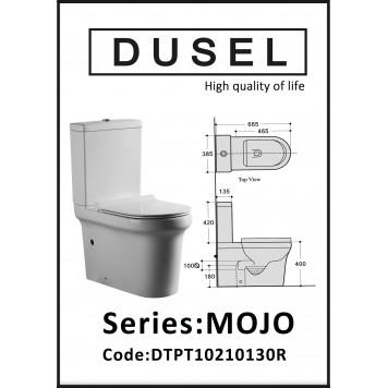 Унитаз-компакт с сиденьем Slim Soft-Close  DUSEL MOJO DTPT10210130R-1
