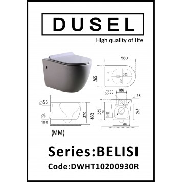 Унитаз с сиденьем Slim Soft-Close DUSEL BELISI DWHT10200930R-4